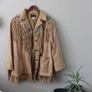 Vintage Leather Indian Jacket